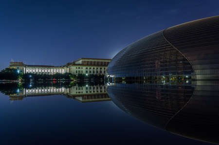 Beijing / China - June 7, 2015: National Centre for the Performing Arts, colloquially described as he Giant Egg, is an arts centre containing an opera house in Beijing, China Éditoriale