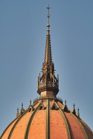 Dome of the Hungarian Parliament Building - Orszaghaz, House of the Nation, seat of the National Assembly of Hungary and symbol of Budapest, Hungary