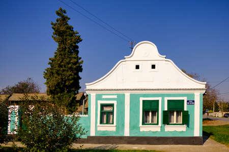 Traditional style house in Kovilj in Backa region of Vojvodina in northern Serbia