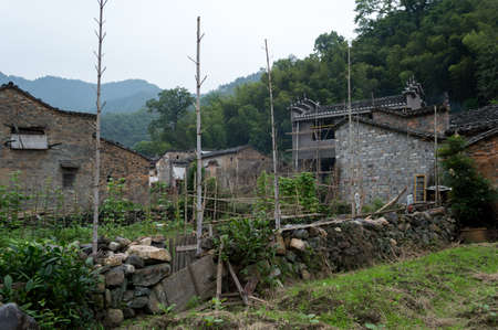 Old town Yaoli in rural Jiangxi province. It is a popular tourism site for its mountain scenery, old buildings and production of Chinese porcelain.