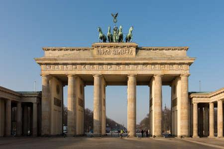 Berlin / Germany - February 16, 2017: Iconic Brandenburg gate, symbol of Berlin and Germany Redakční