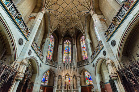 Wittenberg / Germany - February 26, 2017: Interior of All Saints Church or Schlosskirche (Castle Church) in Wittenberg, where the Ninety-five Theses were posted by Martin Luther in 1517