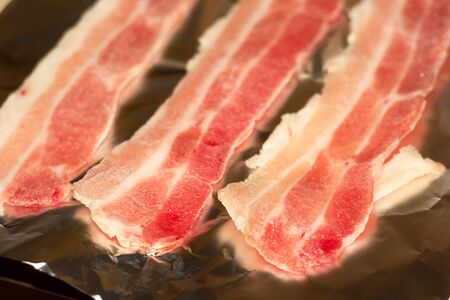 raw: Raw bacon