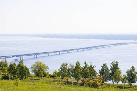 Ulyanovsk (Simbirsk) Presidential bridge over the Volga river on June 18, 2019 Фото со стока