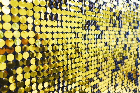 Bright, festive, sparkling, dazzling, abstract background. Festive decorations and decoration of round shiny metallic sequins. Soft blur and small depth of field. Stock fotó
