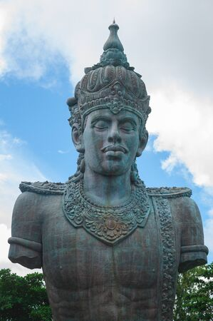 BALI-APRIL, 2020: Garuda Wisnu Kencana Cultural Park on island Bali. Details of exposition, general views. Travel to Indonesia, attractions. Deity statues, the largest monument on the island. Фото со стока