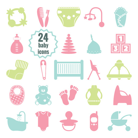 vector baby icons set Illustration