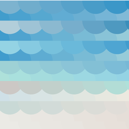 spot the difference: Abstract background on a sea theme with decorative waves in colors of sand and water. Vector illustration Illustration