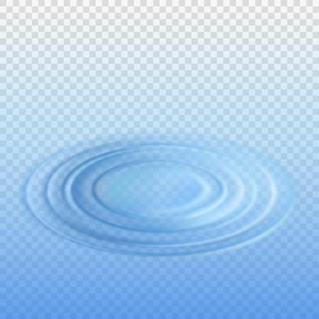 투명도와 떨어지는 드롭 물에서 리플 효과. 격리 된 벡터 일러스트 레이 션 일러스트