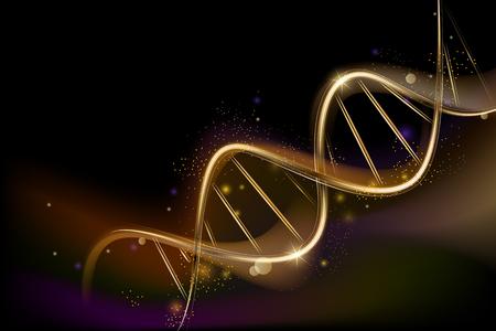 나선형 DNA와 의료 과목에 대한 배경. 대중 과학 배경 스톡 콘텐츠 - 86097398