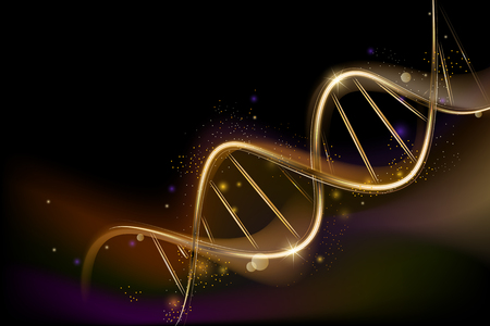 Background on medical subjects with spiral DNA. Popular science background Stock Illustratie