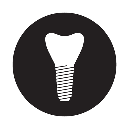 graphic icon of dental implant