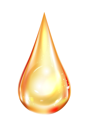 Drop oil, not transparent. Isolated vector illustration on white background. Çizim