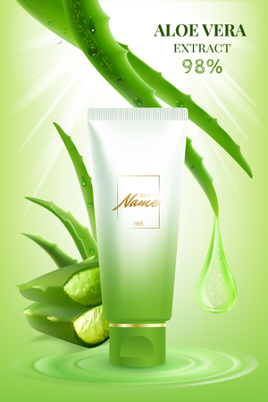 Advertising poster for a beauty product. Stock Illustratie