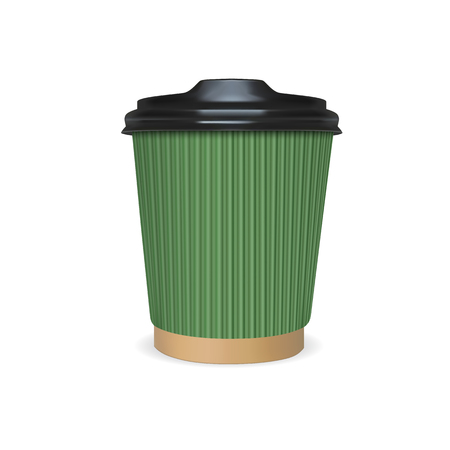 Mock up paper cup of coffee, tea or milk.