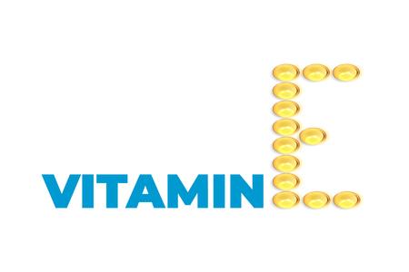 Vitamine E backgraund. Gel pills 写真素材 - 114439676