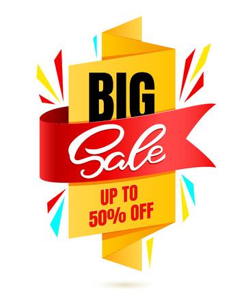 Special offer Big Sale banner template vector design