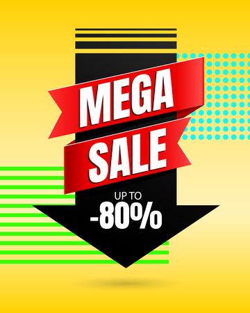 Oferta especial diseño de vector de plantilla de banner de mega venta
