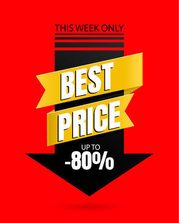 Special offer Best price banner template vector design