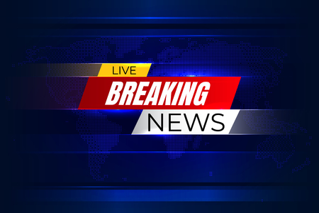Breaking news background with graphic map