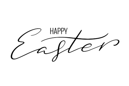 Happy Easter postcard Lettering happy easter.