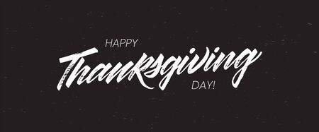 Happy Thanksgiving Day greeting card. Lettering Happy Thanksgiving Day