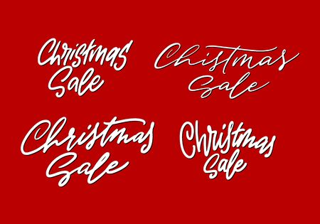 Phrase Christmas sale modern lettering set for ads or posters