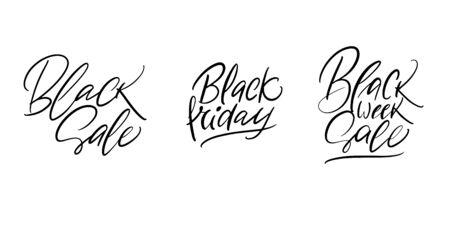 Lettering Black Friday Ilustracja