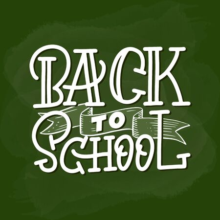 Back to school handlettering on the green back