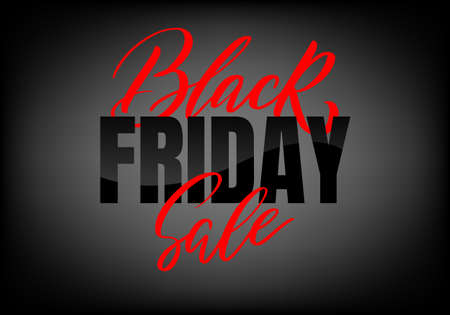 Black Friday lettering. Ad, poster, sign board design layout. Black Friday sale inscription Vectores