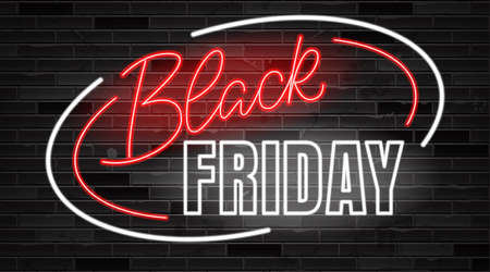 Black Friday lettering. Ad, poster, sign board design layout
