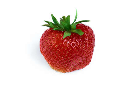 Strawberry on white background. Isolated red berry