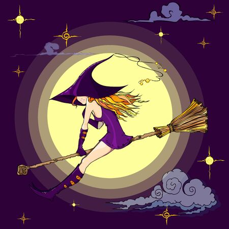 witch illustration for halloween Foto de archivo - 133518119