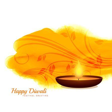 diya: happy diwali diya background design