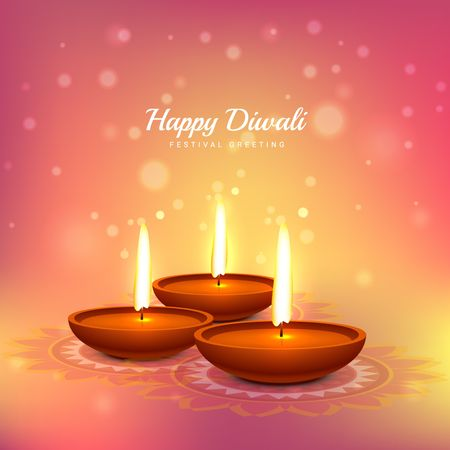 traditional festival: diwali festival greeting card design background