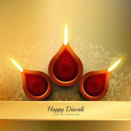Festival di Diwali Diya progettazione illustrazione