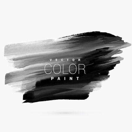 black dark paint grunge stain Vector Illustration