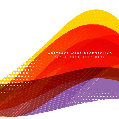 tone: colorful abstract wave background design Illustration