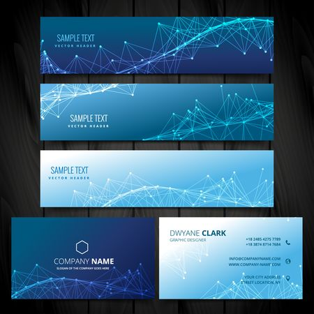 banners web: business card and web banners collection Illustration