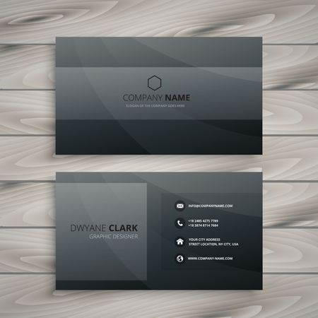 dark: dark business card