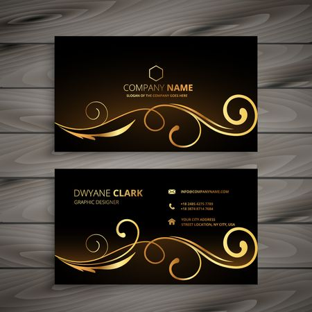 premium floral business card