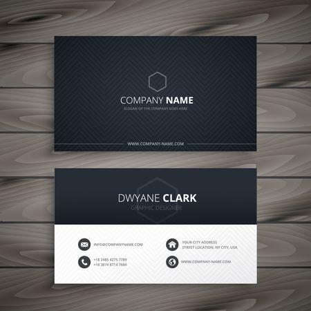 бизнес: чистый темный визитная карточка