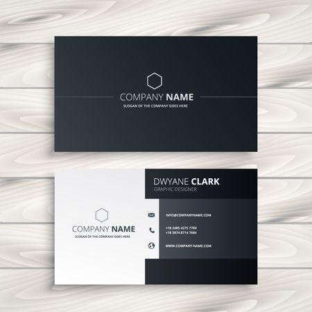 검은 색과 흰색 비즈니스 카드