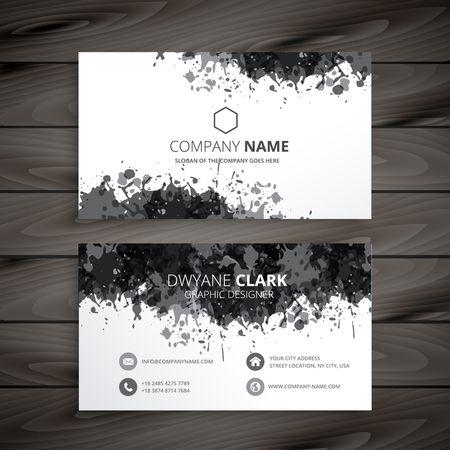 grunge splash business card