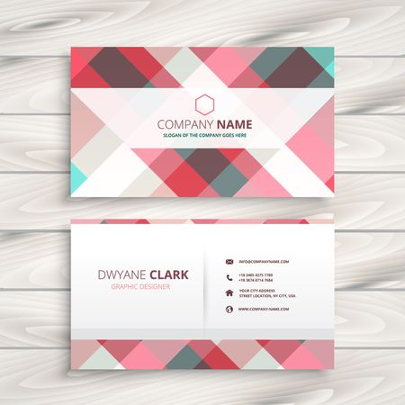 visiting card: modern business card template Illustration