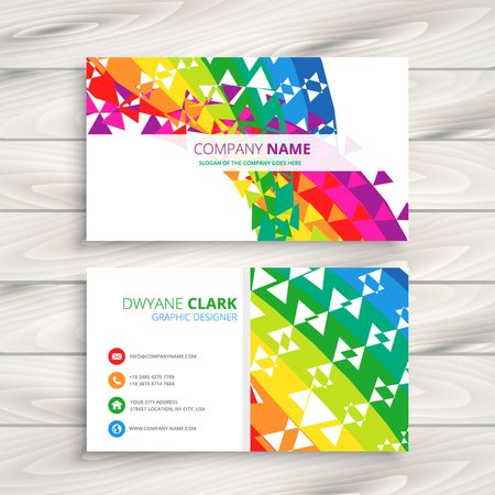 graphics card: abstract colorful business card Illustration