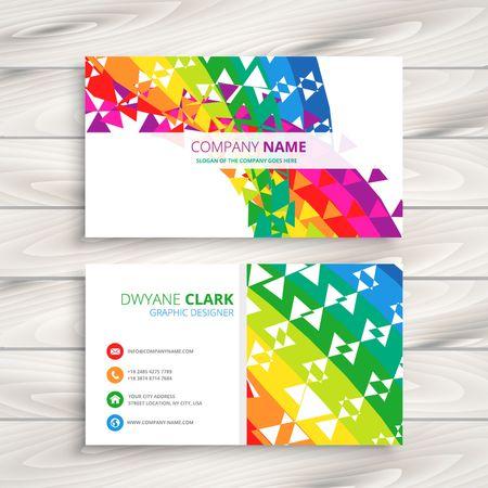 personalausweis: abstrakte bunte Visitenkarte