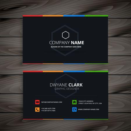 dark bedrijf visitekaartje Stock Illustratie