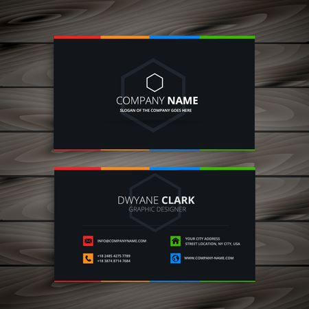 dark company business card