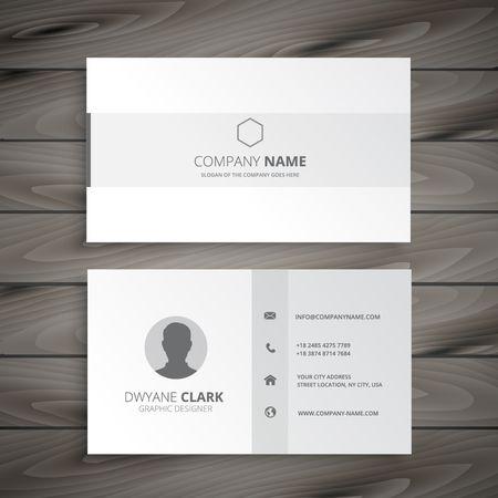 白の最小限のビジネス カード  イラスト・ベクター素材